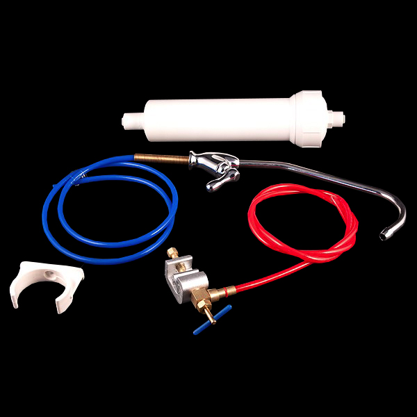 Inline Carbon Water Filter Kit with Chrome Tap-B